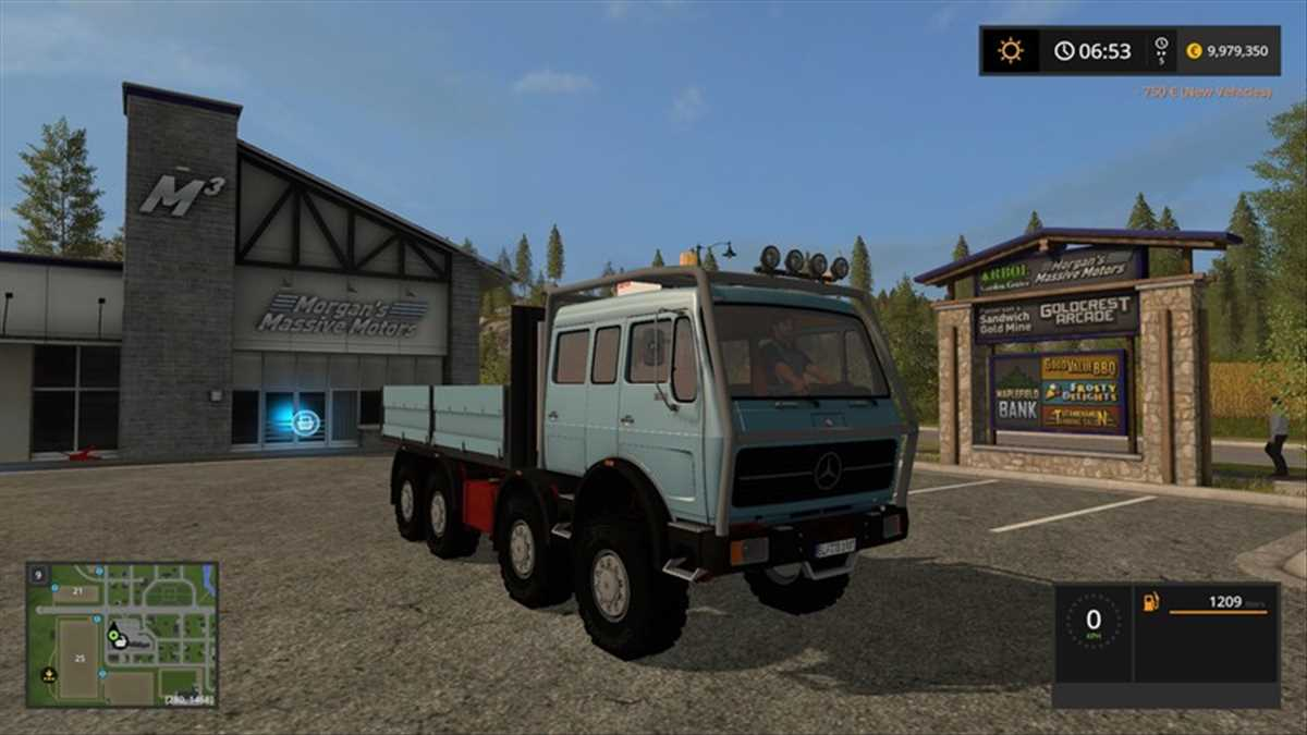landwirtschafts farming simulator ls fs 17 ls17 fs17 mods download Mercedes Benz NG DoKa 1.0.0.0