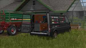 landwirtschafts farming simulator ls fs 17 ls17 fs17 mods download Lizard Rumbler Van Workshop 1.0.0.0