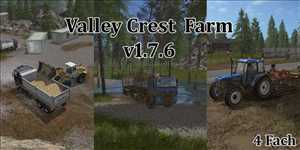 landwirtschafts farming simulator ls fs 17 ls17 fs17 mods download Valley Crest Farm 4fach 1.7.9