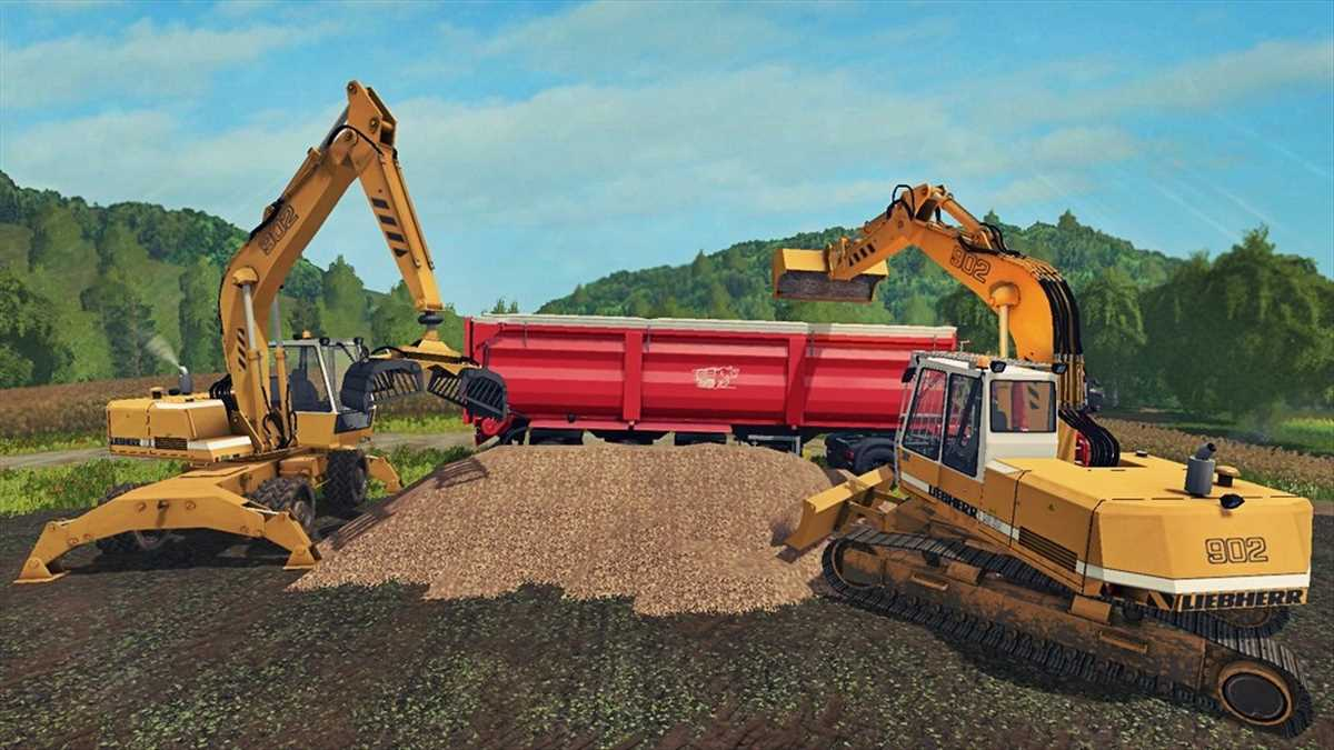 landwirtschafts farming simulator ls fs 17 ls17 fs17 mods download Bagger Liebherr 902 Pack 1.0.0.1