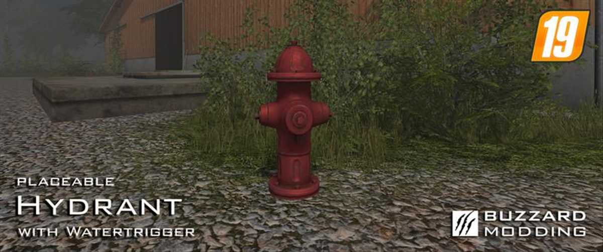 landwirtschafts farming simulator ls fs 19 ls19 fs19 mods download Hydrant with Watertrigger 1.0