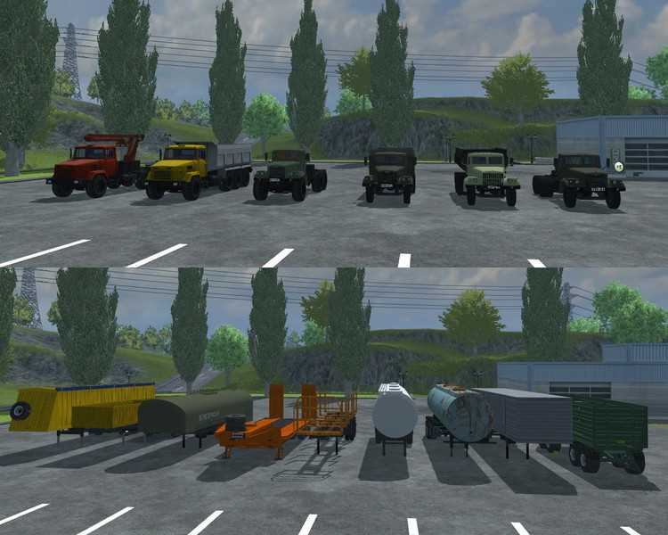 landwirtschafts farming simulator ls fs 2013 ls2013 fs2013 mods download KrAZ and Trailer Pack 2.0